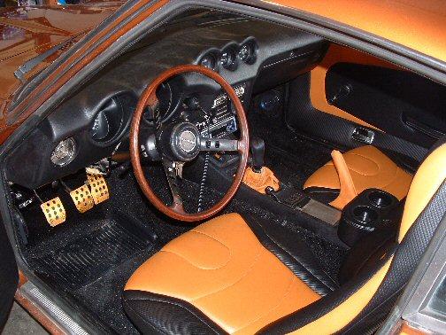 datsun 240z orange interior motorsport auto z gallery. Black Bedroom Furniture Sets. Home Design Ideas