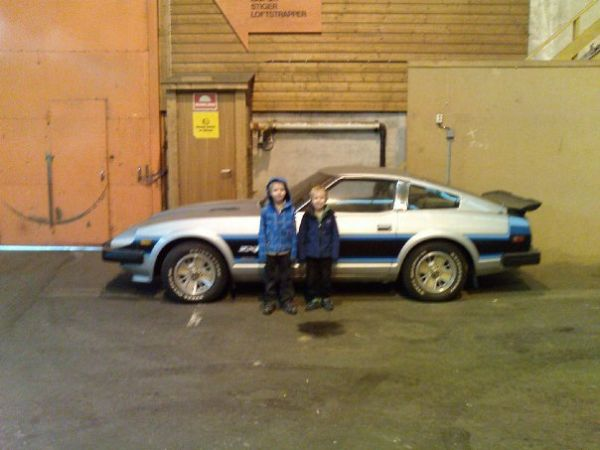 Datsun 280ZX - ZX-R and my kids before car comes out of