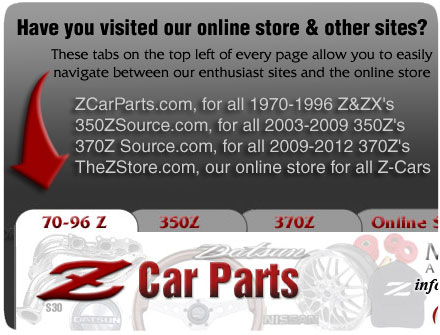 Z Car Parts Com Motorsport Auto Home